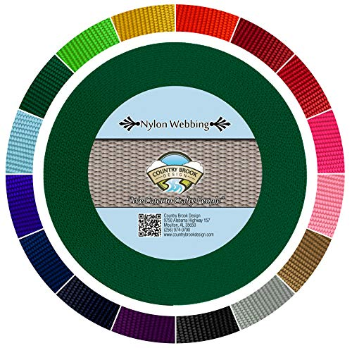 Country Brook Design - Green 1 1/2 Inch Heavy Nylon Webbing (10 Yards)