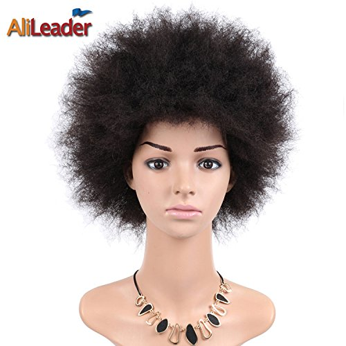 """Search : AliLeader Free Style 6"""" Kanekalon Afro Wigs Short Curly Wigs Heat Resistant Wigs Synthetic African American Wigs for Black Women Color #2"""
