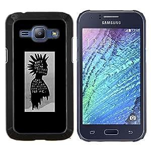Dragon Case - FOR Samsung Galaxy J1 J100 J100H - punk kid black poster guy grey man - Caja protectora de pl??stico duro de la cubierta Dise?¡Ào Slim Fit