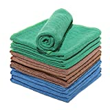 LUCKISS Windowpane Microfiber Dish Cloths Super Soft Absorbent Quick Drying Lint Streak Free Kitchen Rag for Washing and Cleaning Dust Cloths Set of 12 Pack 12 x 12 inch
