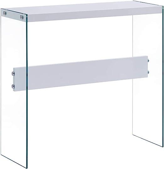 UnfadeMemory Mesa Consola Recibidor de Entrada de Cristal,Mesa ...