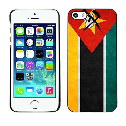 Omega Case PC Polycarbonate Cas Coque Drapeau - Apple iPhone 5 / 5S ( Mozambique Grunge Flag )