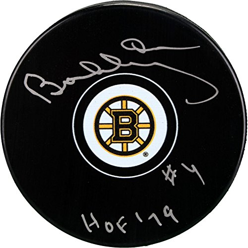 Bobby Orr Boston Bruins Autographed Hockey Puck with HOF 79 Inscription - Fanatics Authentic Certified