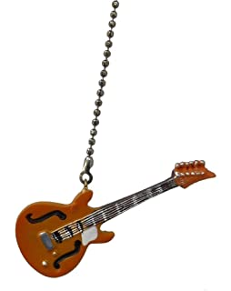 Blue electric guitar ceiling fan pull light chain decor ceiling electric guitar ceiling fan pull light chain extender ornament yellow mozeypictures Choice Image
