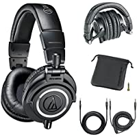 Audio-Technica Professional Studio Headphones Black...