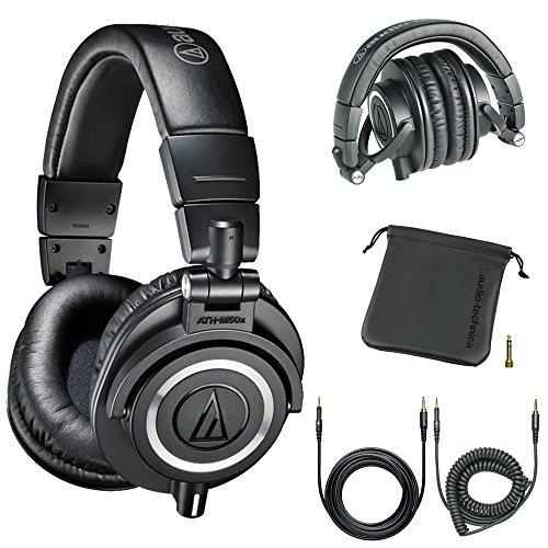 Audio-Technica Professional Studio Headphones Black (Certified Refurbished)