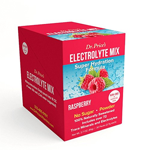 Electrolyte Mix: Super Hydration Formula + Trace Minerals | Raspberry Flavor (30 powder packets) Drink Mix | Dr. Price's Vitamins