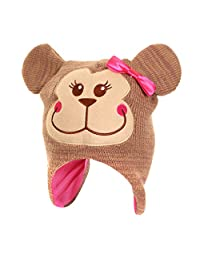 Girls Animal Design Winter Thermal Trapper Hat With Ears