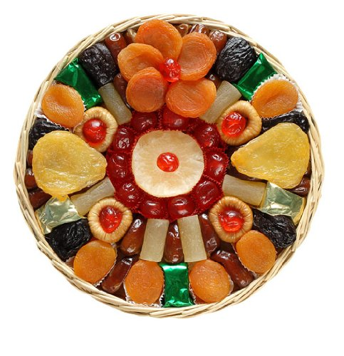Broadway Basketeers Heart Healthy Floral Dried Fruit Gift Tray
