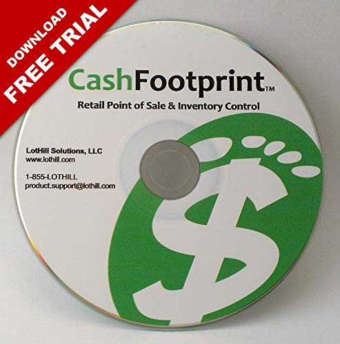 Professional POS Software and Inventory Control, No Monthly Fees, Free Support & Updates – CashFootprint Retail Point of…