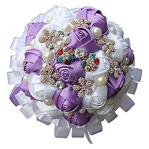 Rainbot Ribbon Bride Or Bridesmaid Bouquet Wedding Bouquet Wedding Supplies 69