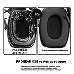 PROHEAR 036 [Mise à Niveau] Casque Anti Bruit de Tir Electronique Silicone Coussinets d'oreille Remplaçable,SNR 28dB… 10