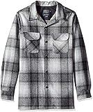 Pendleton Men's Long Sleeve Board Shirt, Black/Grey Mix Ombre 5XL