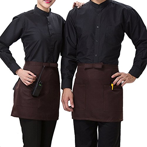 Used, Half-length Short Waist Apron with Pockets Catering for sale  Delivered anywhere in USA
