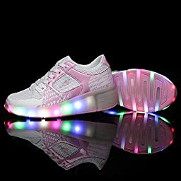 Roller Skate Shoes for Girls Boys Sneakers Shoes with Wheels with LED Light Up for Kids