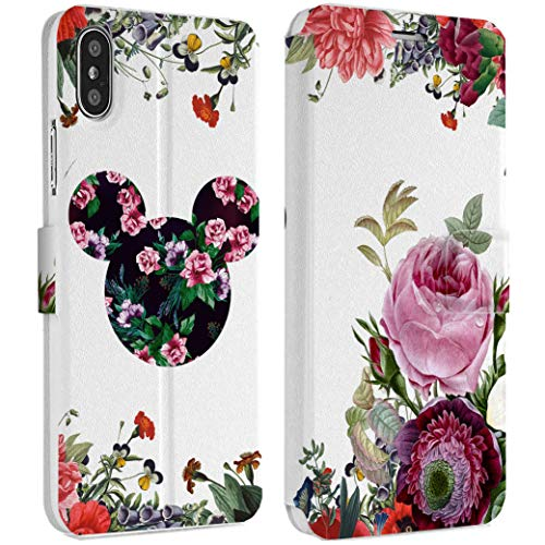 Wonder Wild Floral Walter iPhone Wallet Case X/Xs Xs Max Xr 7/8 Plus 6/6s Plus Card Holder Accessories Smart Flip Hard Design Protection Cover Mickey Minnie Mouse Cartoon Characters Flowers Animal -