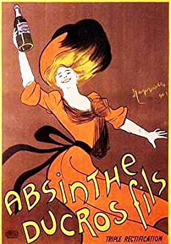ABSINTH DUCROS by L CAPPIELLO french vintage ad poster AGED LOOKING 24X36