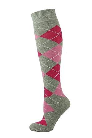 132476f39 Mysocks Unisex Knee High Long Socks Argyle at Amazon Men s Clothing ...