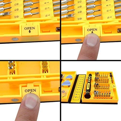 LB1 High Performance New Premium Tools Kit for Asus 15.6'' Touch-Screen Laptop 8GB Memory 1TB Hard Drive Black Q550LF-BBI7T07 Multipurpose 38-Piece Precision Screwdrivers Repair Tools Set by LB1 High Performance (Image #5)