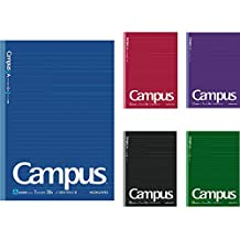 Kokuyo Campus Notebook Semi B5-dotted 7 mm Rule - 30 Lines X 30 Sheets - Pack of 5 Cover Limited Chic Colors