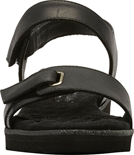 Walking Cradles Women's Halle Flat Sandal Black Agata Leather discount top quality really cheap online Su20NxZTTH