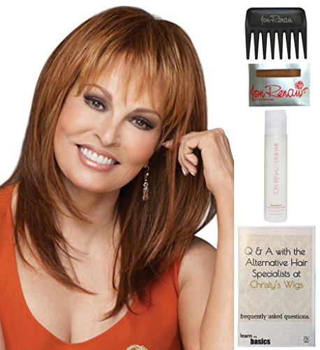 Bundle - 5 items: Enigma by Raquel Welch Wig, 15 Page Christy's Wigs Q & A Booklet, Wig Shampoo, Wig Cap & Wide Tooth Comb (Color Selected: R14/88) by Raquel Welch & Christy's Wigs