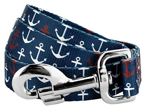 Country Brook Petz | 1 Inch Anchors Away Dog Leash - 6 Foot