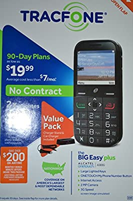 TRACFONE BIG EASY PLUS with 800 Minutes and One Year of Service Included