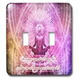 3dRose Spiritual Awakenings Meditation - Prayer and Meditation motivational art - Light Switch Covers - double toggle switch (lsp_290262_2)