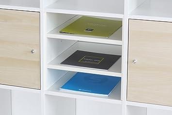 Inwona Ikea Kallax Expedit Regal Einsatz mit 2 Fachböden Ablagefach ...