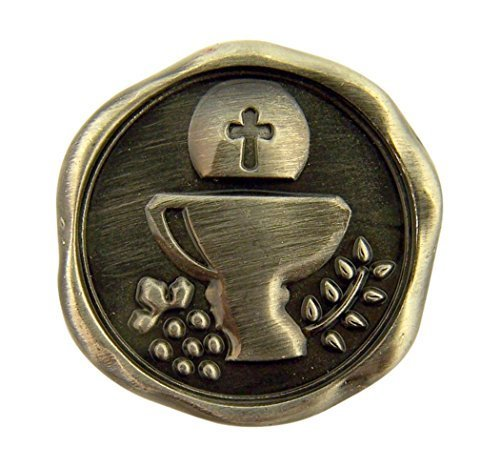 Silver Tone I Am the Bread of Life First Communion Pocket Token, 1 Inch]()
