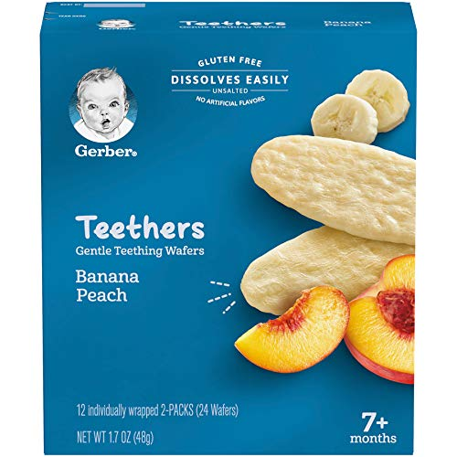 Gerber Teethers, Banana Peach, 12 Count per