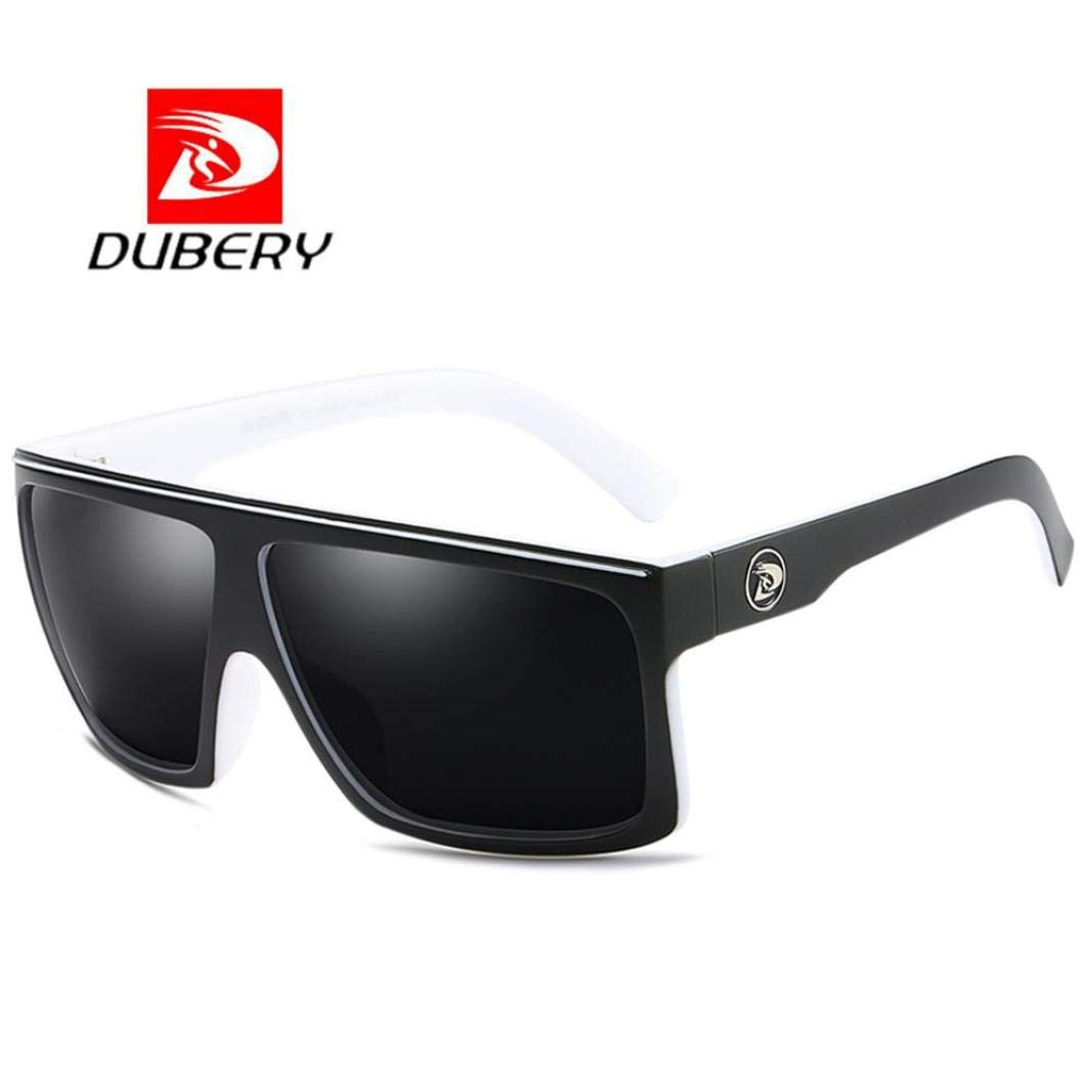 8c10972268 Amazon.com   DUBERY Sunglasses Men s Polarized Sunglasses Outdoor Driving  Men Women Sport Frame Fishing Hunting Boating Glasses (H)   Sports    Outdoors