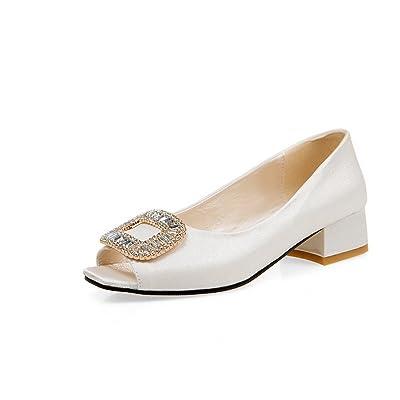 AdeeSu Sandales Pour Femme Blanc, 34 EU, SLC01834