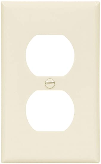 cooper wiring devices 5132la standard size nylon 1 gang duplex cooper wiring devices 5132la standard size nylon 1 gang duplex receptacle wallplate light almond