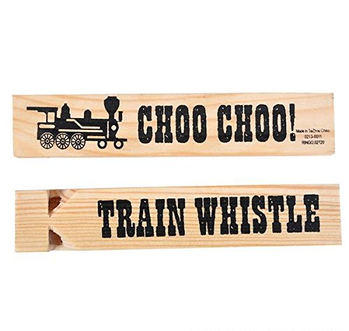 5.75'' WOODEN TRAIN WHISTLE, Case of 144