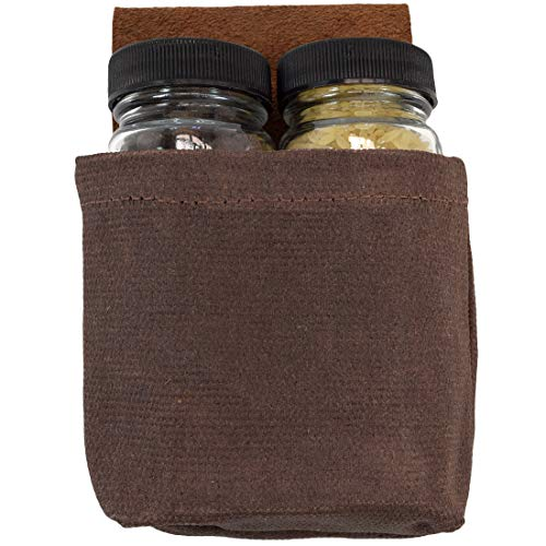 Hide & Drink, Waxed Canvas Foraging, Seasoning, Dressing & Medicine Pouch/Travel & Hiking Essentials Handmade :: Honey Bourbon ()