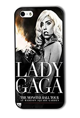 Tomhousomick Custom Design Women's Fashion Cases Sexy Singer Lady Gaga Case for iPhone 5 5S Back Cover #140