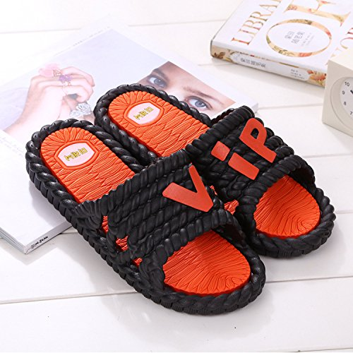 Plastic Black Home Female Mr Cool and Drag Slippers Slippers Home and Interior Bathroom fankou Cool Shower 45 Slip Thick Non Couple 44 18wqO