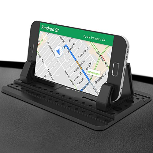Dash Mat (Third Generation,IPOW Sticky Silicone Car Dash Pad Mat Desk Holder Stable Smartphone Mount)