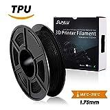 SUNLU 1.75mm Flexible TPU 3D Printer Filament, Dimensional Accuracy +/- 0.02mm, 2.2 LBS (1KG) Spool,1.75 mm Flexible TPU 3D Printing Filament, Black