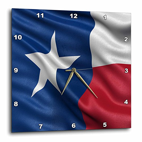 3dRose Texas State Flag - Wall Clock, 15 by 15