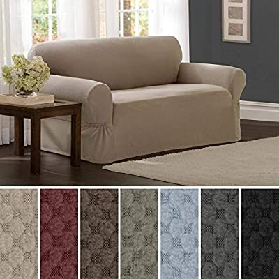 MAYTEX Pixel Ultra Soft Stretch Couch Furniture Cover Slipcover, 1 Piece
