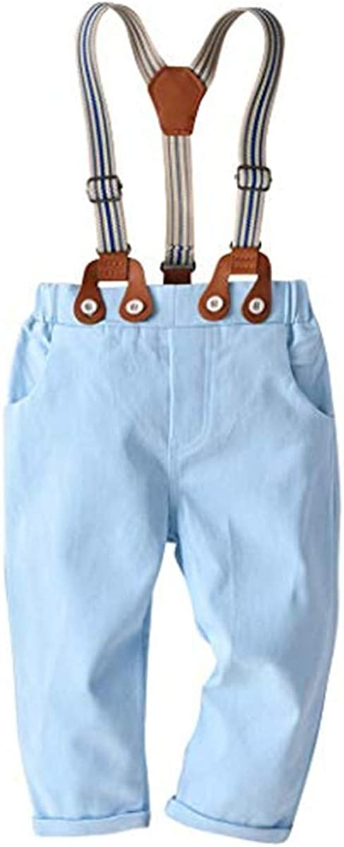 FAIRYRAIN Kleinkind Baby Jungen Gentleman Outfits Anzug Hemd Strampler Latzhosen Overall Kleinkinder Set