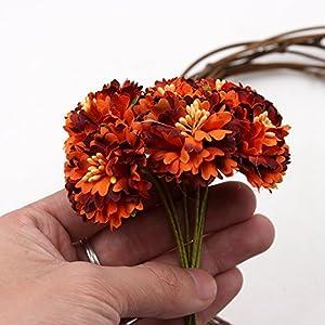 Artificial Flower Roses Wedding Decoration Home Decoration Festivals Party Decorations Silk Daisy Flower 30PCS 4CM (orange) 1