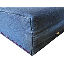 Dogbed4less DIY Pet Bed Pillow Blue Denim Duvet Cover and Waterproof Internal case for Dog at 47X29X4 Inch - Covers only