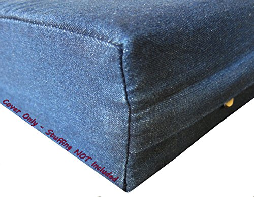 - Dogbed4less DIY Durable Blue Denim Pet Bed External Duvet Cover and Waterproof Internal Case for 55