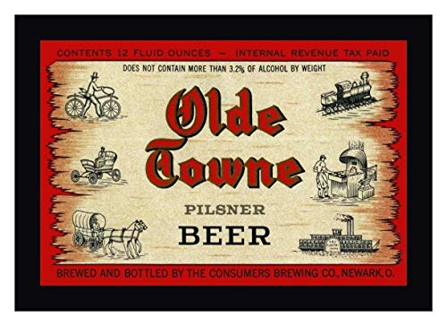 (Olde Towne Pilsner Beer by Vintage Booze Labels - 17