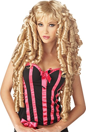 Women Blonde Storybook Deluxe Long Wig Curls Cosplay Party - Storybook Wig Blonde