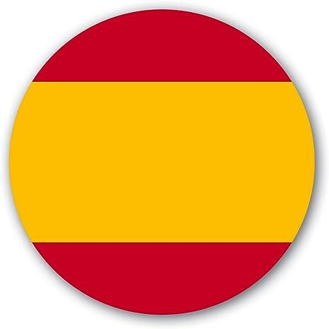 10 adhesivos redondos, reutilizables diseño España, diámetro 8 cm ...